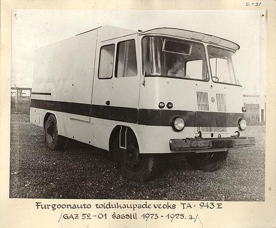 Furgoonauto toidukaupade veoks TA-943E, ГАЗ-52-01 šassiil 1973-1975. a.