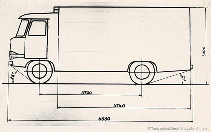 TA-942 isotermiline furgoonauto joonis