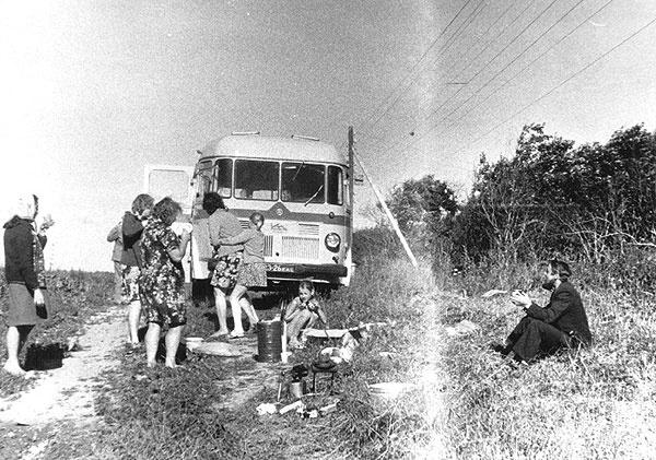 Põlva rajooni kultuuritöötajad 1980. a. reisil Põlva-Pihkva-Novgorod-Leningrad