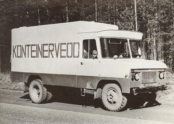 TA-3763 konteinerveo furgoonauto katsemudel 1980. a.