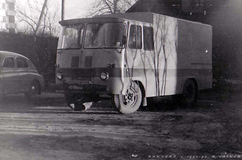 Üks viimasied igapäevakasutuses olevaid TA-943seeria furgoone Rakveres 1990-1992.Foto: Rain Vaikla, 1990-1992 Rakveres